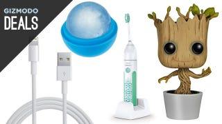 Illustration for article titled Giant Ice Balls, Star Trek Catan, Dancing Groot, Cleaner Teeth [Deals]