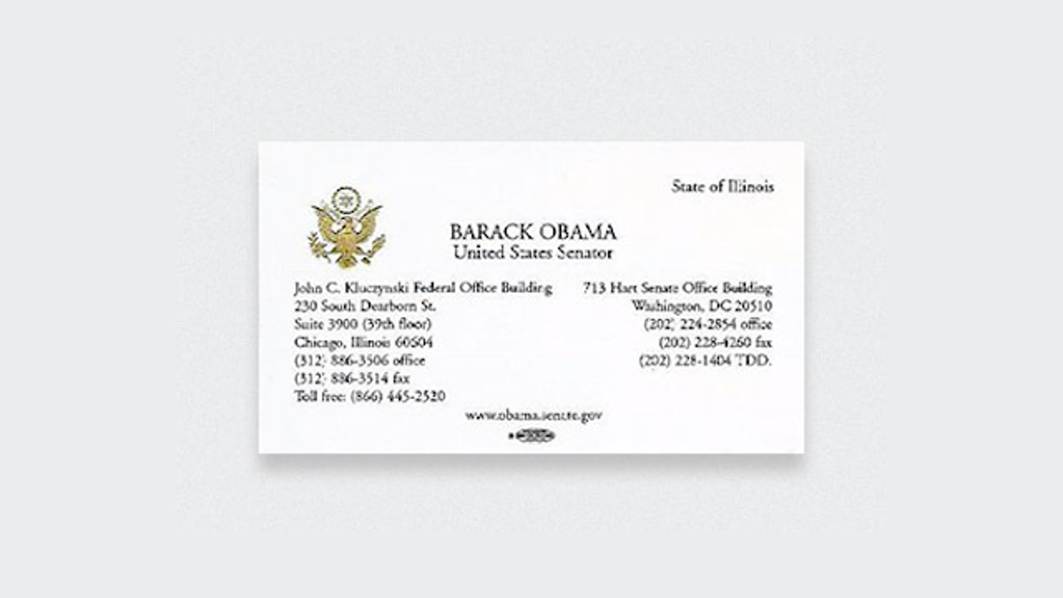 Here Are the Business Cards of Famous People