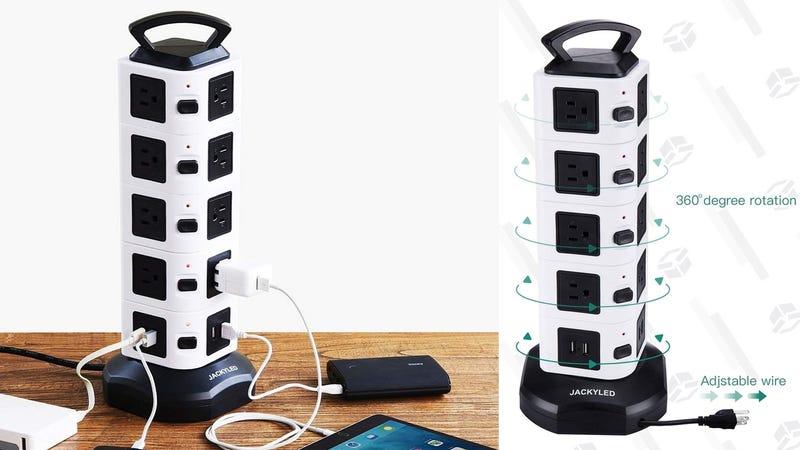 JackyLED 18-Outlet Vertical Power Strip | $28 | Amazon | Promo code Z8G2UURD
