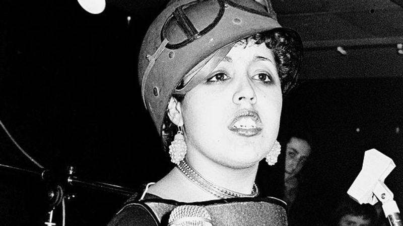 Poly Styrene in 1977. (Photo: Gus Stewart / Getty Images)