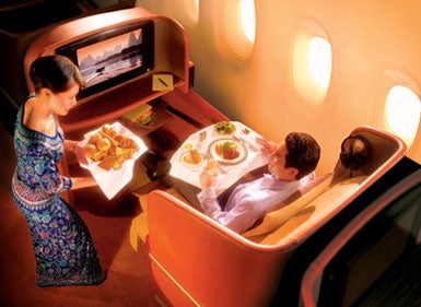 Illustration for article titled Singapore Airlines Flights Get iPhone/iPod Docks and 15.4-inch LCDs