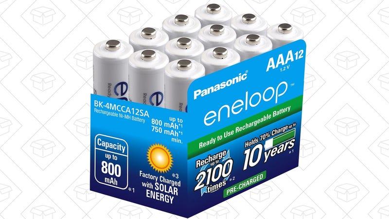12-Pack AAA Eneloop Batteries, $20