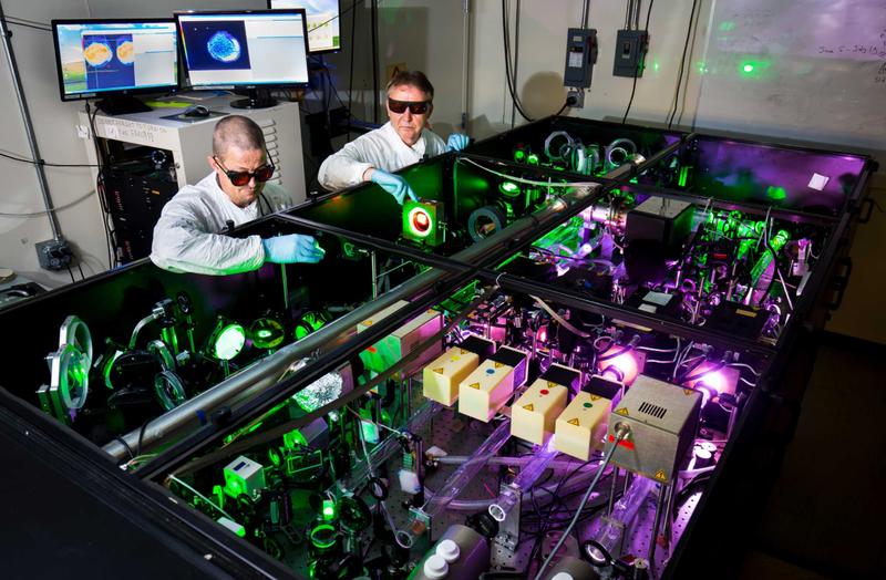 El Hércules Láser. Foto: Joseph Xu, Michigan Engineering