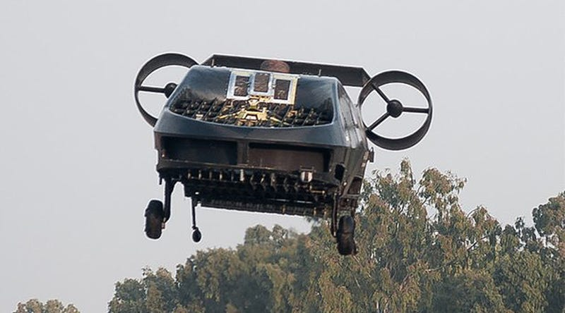Illustration for article titled This Truck-Sized Flying Machine Can Go Where Helicopters Can't