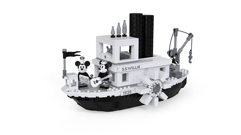 Lego's Steamboat Willie Tribute Is Black And White And Perfect