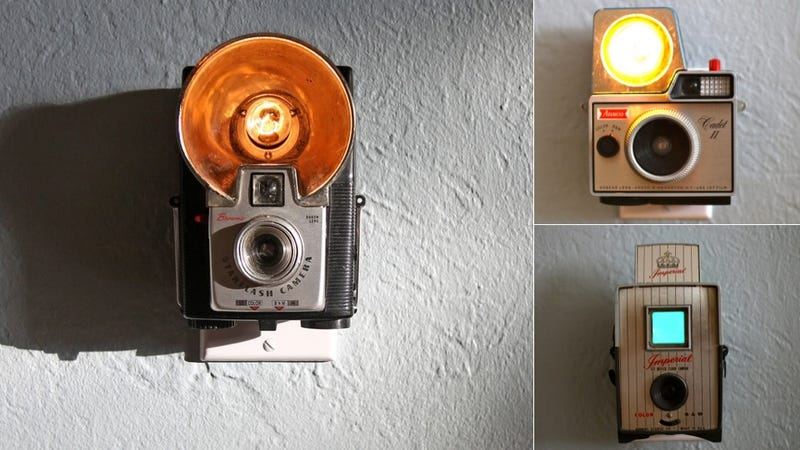 Illustration for article titled Vintage Cameras as Nightlights: Comforting or Creepy?