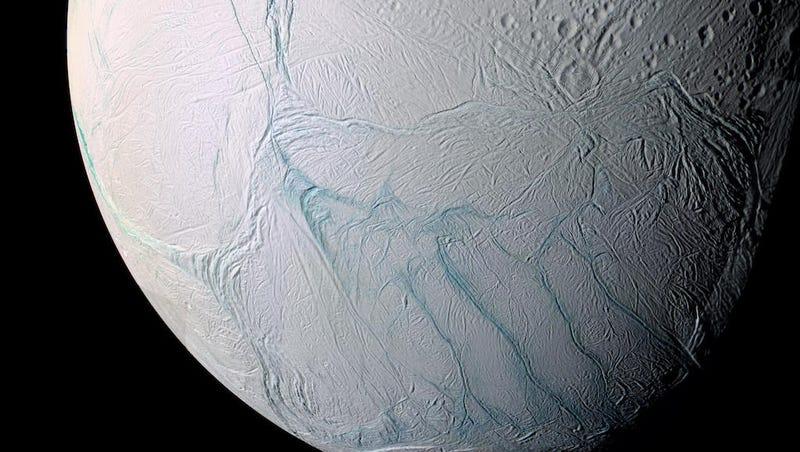 Enceladus. (Image: NASA/JPL/Space Science Institute)
