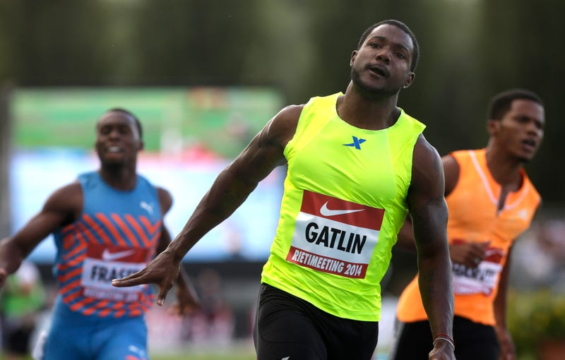 Illustration for article titled Justin Gatlin's Glory Lap Turning Contentious And Weird