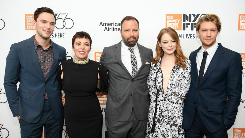Yorgos Lanthimos with the cast of The Favourite at the New York Film Festival on Friday, September 28.