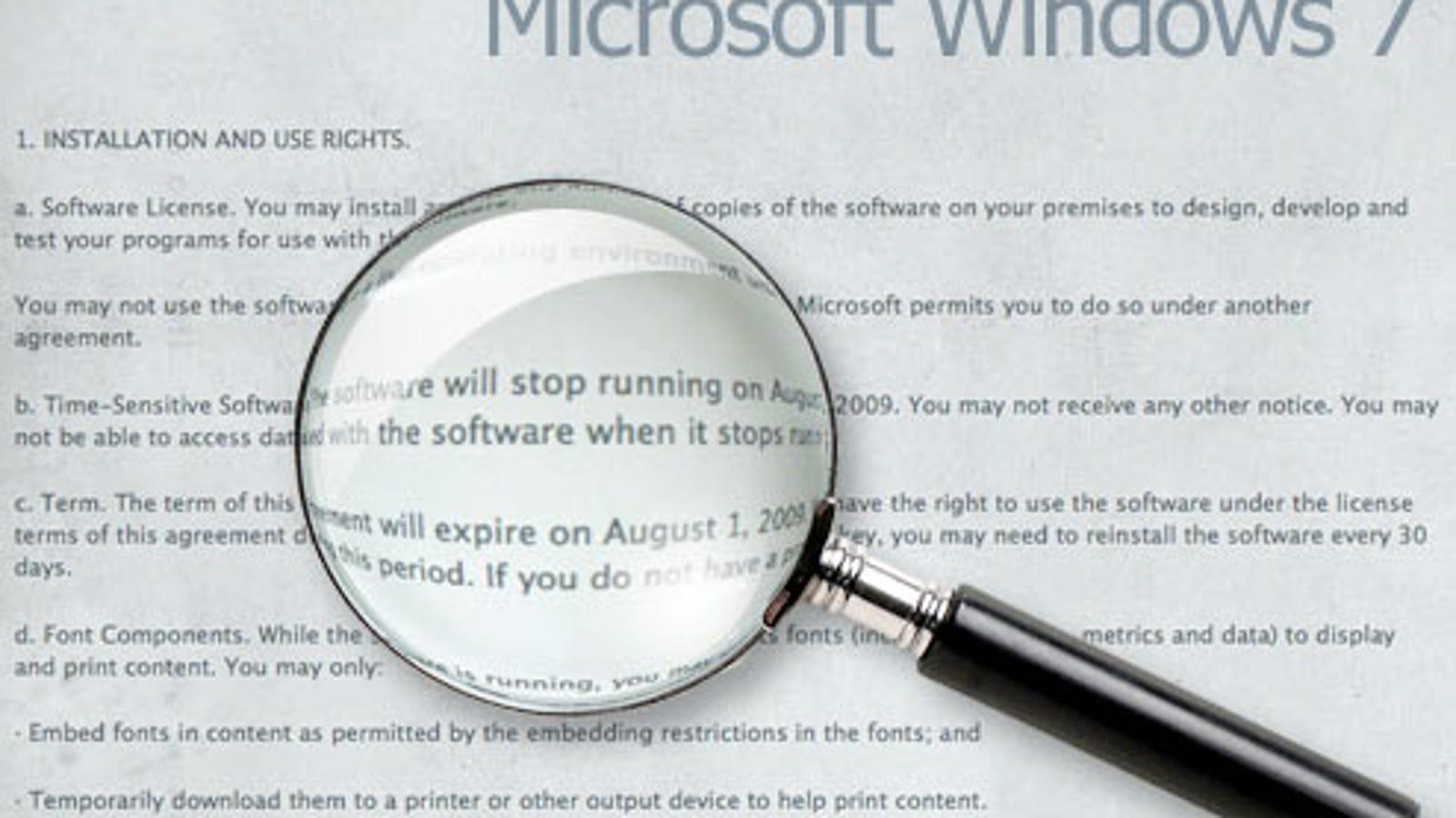 what happens when windows 7 license expires