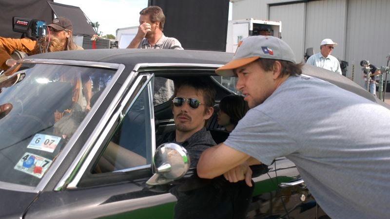 Linklater (right) with Ethan Hawke (Photo: IFC)