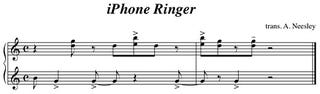 Illustration for article titled iPhone Ringtone Sheetmusic: Let Angelic Tinkling Remixes Begin