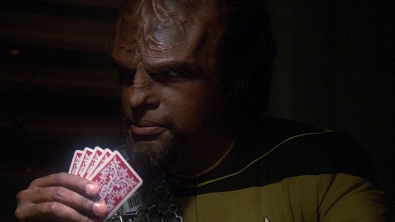 Illustration for article titled The Worf Of Starfleet is a treat for Trekkies, Scorsese fans, and pun nerds