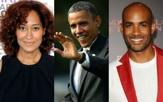 Tracee Ellis Ross (Frazer Harrison/Getty); Barack Obama(Chip Somodevilla/Getty); Boris Kodjoe (Frederick M. Brown/Getty)
