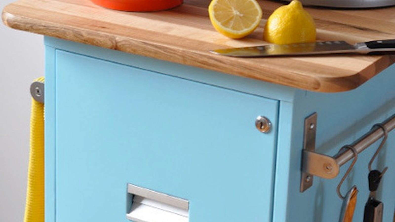 Repurpose A Filing Cabinet To Make A Rolling Kitchen Cart