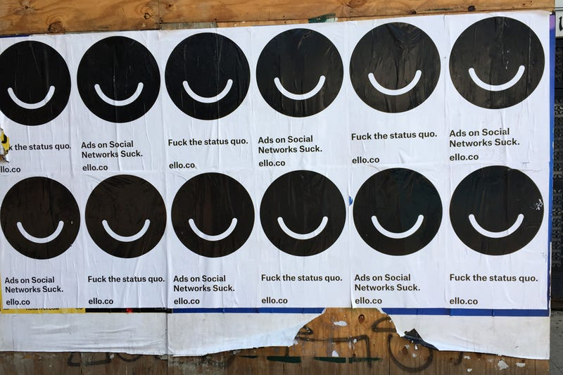 "Ello's New ""Fuck the Status Quo"" Ads Are Hilariously Hypocritical"