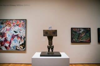 """The Prophet"" by Parviz Tanavoli, center, on display at the Museum of Modern Art in New York - Sam Hodgson for NYT"