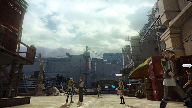 Illustration for article titled A Town With NPCs is the Most Exciting Thing About These Final Fantasy XIII-2 Screens