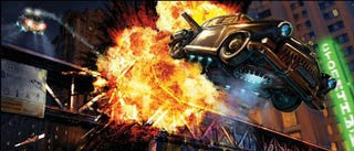 Illustration for article titled A Flying Car Chase We'd Love To See