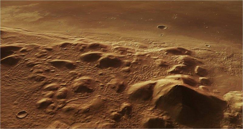 Illustration for article titled Esta zona de Marte puede contener una gran reserva subterránea de hielo