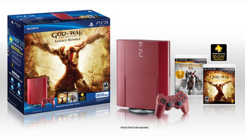 Illustration for article titled New PS3 Bundle Has Red Console, Every God Of War Game