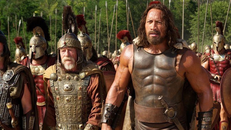 John Hurt and The Rock in Hercules