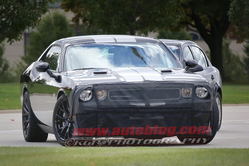Illustration for article titled Boosted Hemi Spotted in Test Challengers