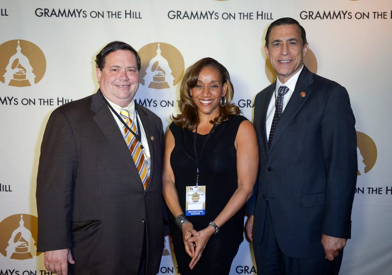 Blake Farenthold, Kathy Sledge, Darrell Issa attend the GRAMMYs on the Hill Awards at The Hamilton on April 13, 2016 in Washington, DC. (Photo by Leigh Vogel/Getty Images for The Recording Academy)