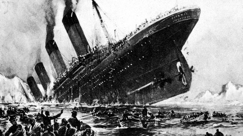 Illustration for article titled New Evidence Finds Titanic Passengers Continued Eating From Buffet As Ship Sank