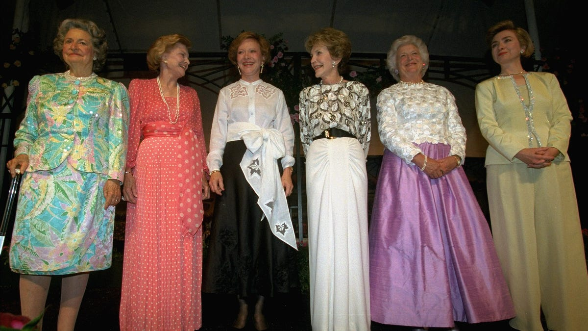 Lets Talk About The Fashion Choices Of Barbara Bush