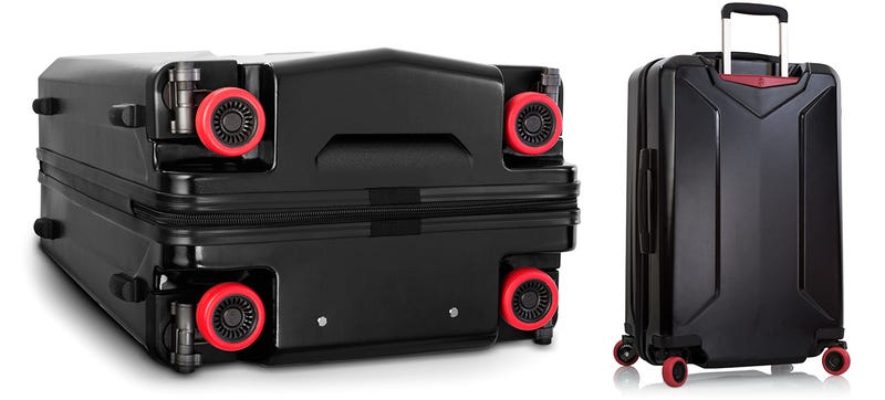 The First Suitcase With Wheels That Retract So They Don't Get ...
