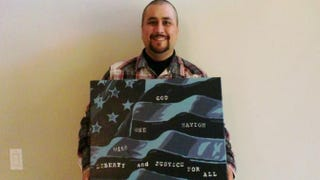 George Zimmerman and his painting that is being sold on eBayyoutube