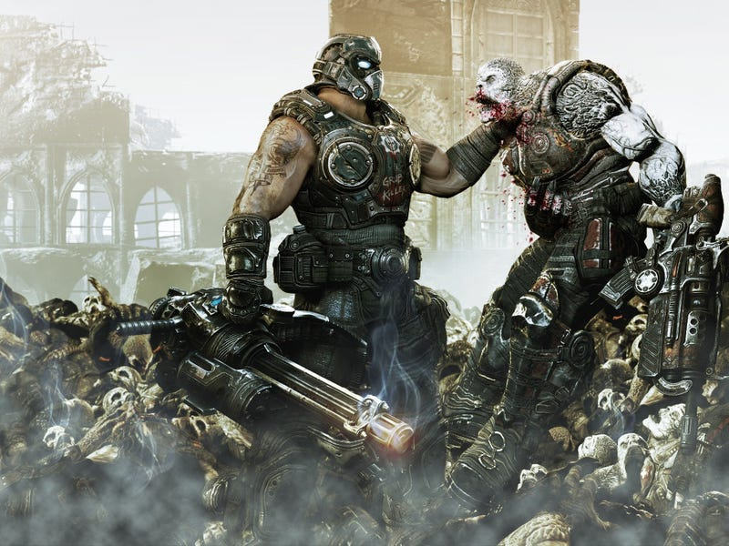 Illustration for article titled Three Words I Said to the Man I Defeated in Gears of War That I'll Never Say Again