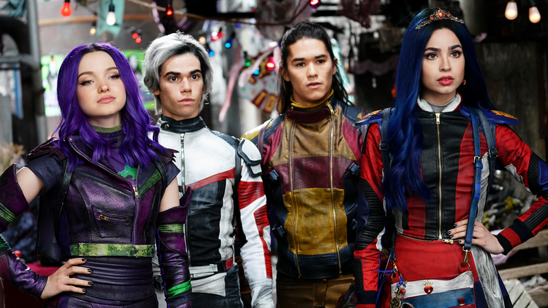 Boyce, second from the left, and his co-stars on Descendants.