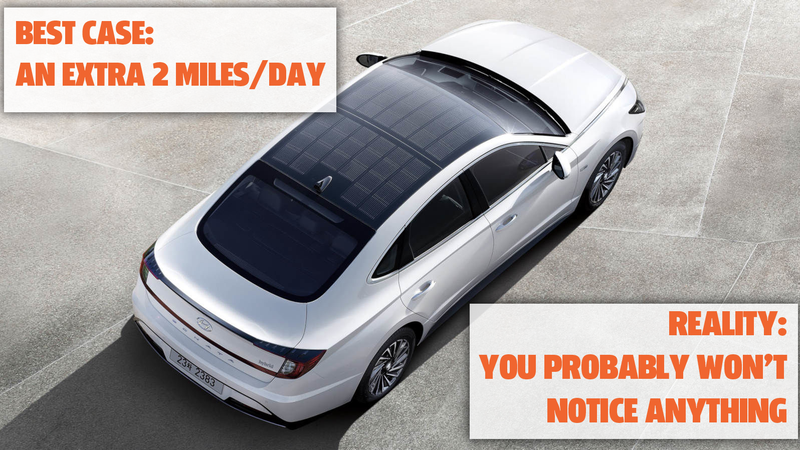Illustration for article titled Let's Be Realistic About The Hyundai Sonata Hybrid's Solar Roof