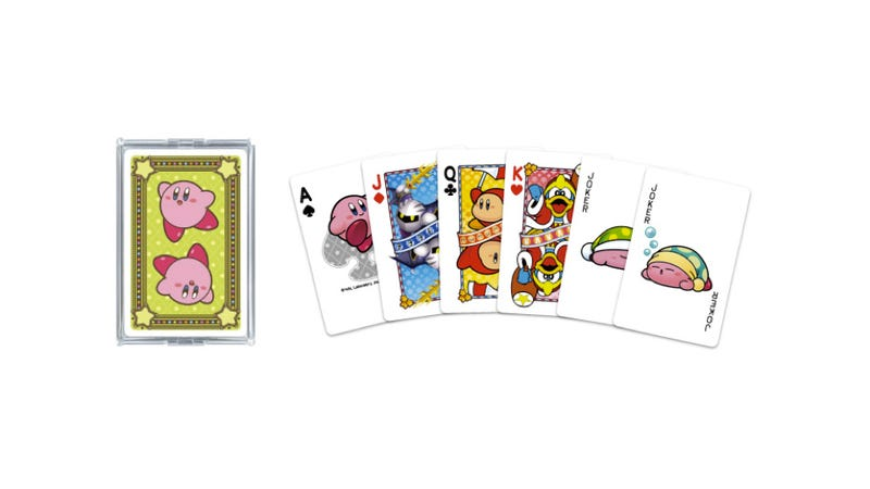 Illustration for article titled Official Kirby Playing Cards Shuffle Out This Summer
