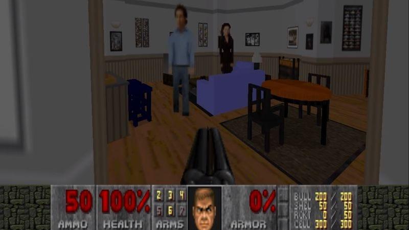 Doom 2-Seinfeld: Jerry's Apartment (Screenshot: YouTube)