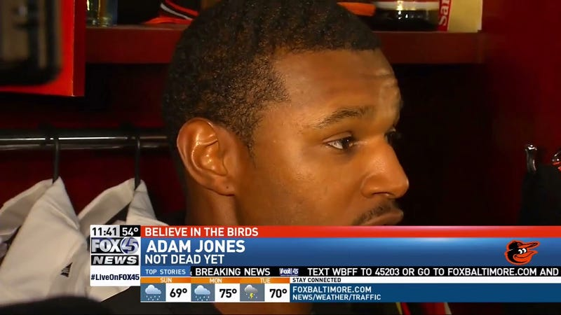 Illustration for article titled Fox 45 Is Here To Squelch Rumors That Adam Jones Is Dead