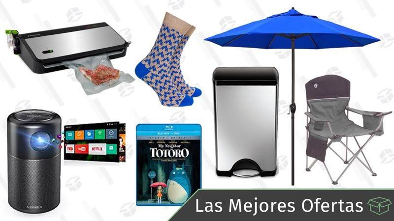 Illustration for article titled Las mejores ofertas de este lunes: Accesorios de camping, proyector portátil, cubo de basura Simplehuman y más
