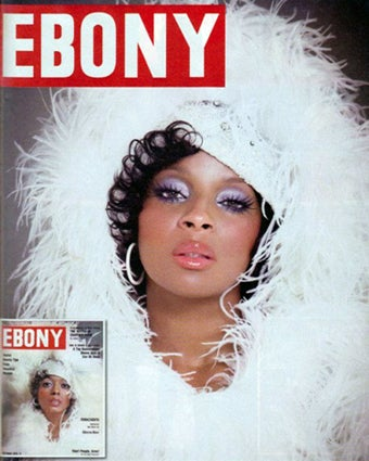 Illustration for article titled Mary J. Blige Recreates 1970 Diana Ross Ebony Cover