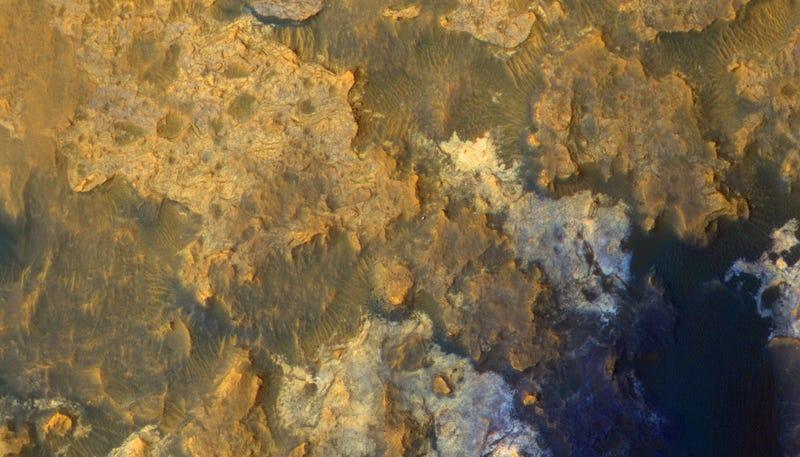 Illustration for article titled Así se ve el rover Curiosity a 300 km de altura de Marte y a 6.800 km/h
