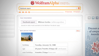 Illustration for article titled Wolfram Alpha's Facebook Report Analyzes Every Dark Corner of Your Facebook Activity