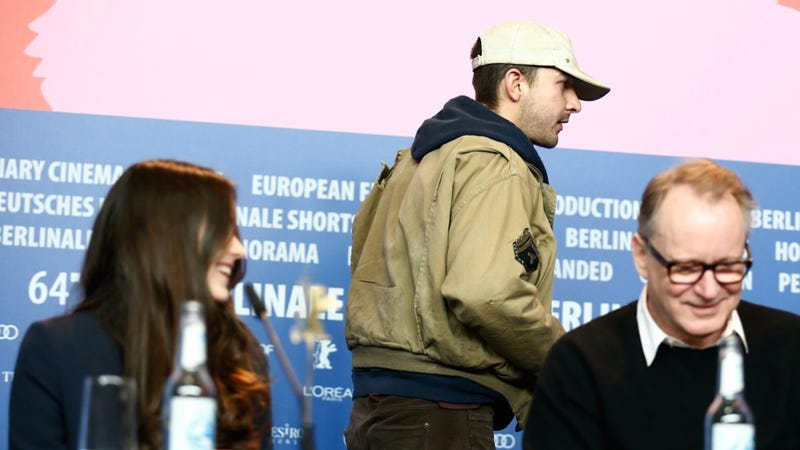 Illustration for article titled Noted Word Thief Shia LaBeouf Storms Out of Berlin Press Conference