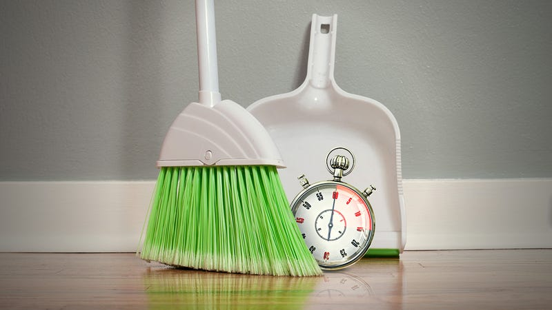 Illustration for article titled How to Clean Your House in 15 Minutes or Less