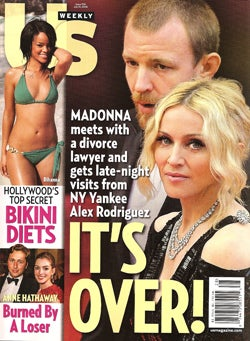 Illustration for article titled This Week In Tabloids: Madonna & Guy Split; Not-Pregnant Stars Without Makeup Have Hot Lesbian Sex