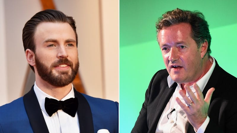 Illustration for article titled Dumb guy Piers Morgan has managed to piss off lovable guy Chris Evans