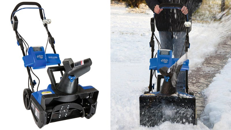 Illustration for article titled This Rechargeable Snow Blower Frees You From an Electric Leash