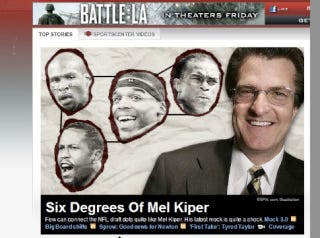 Illustration for article titled A Four-Headed Dong Finally Targets Mel Kiper's Dome