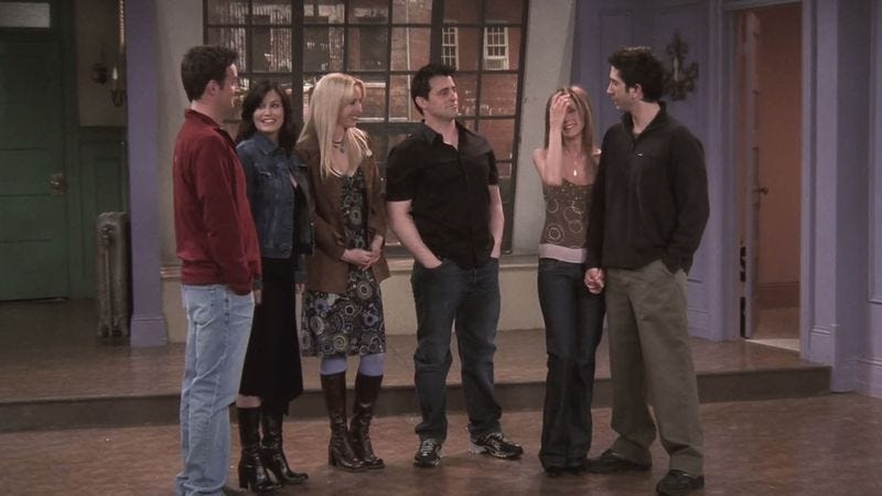 Perry, Cox, Kudrow, LeBlanc, Aniston, Schwimmer