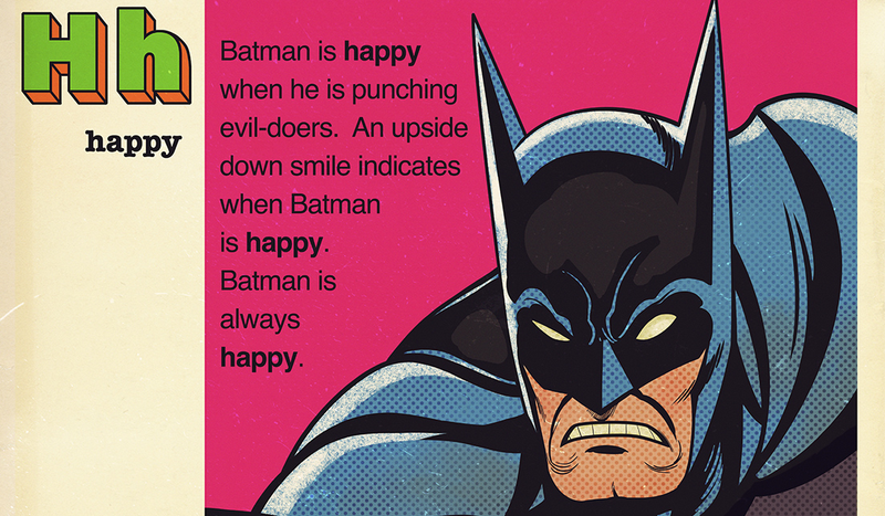 Illustration for article titled This Batman Art Explains Why He Is the Happiest Hero of Them All
